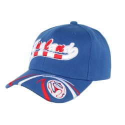 Casquette Angleterre Football bleu rouge blanche