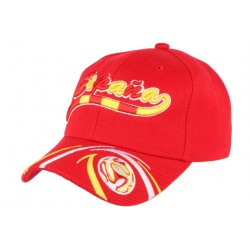 Casquette Espagne Football rouge jaune blanche