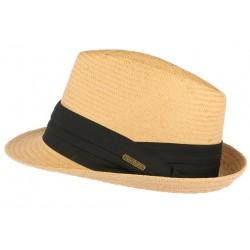 Petit chapeau paille naturelle beige fait main Lordman