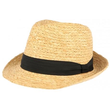 Petit chapeau paille naturelle raphia Valman