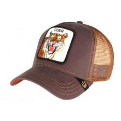 Casquette Goorin Tiger marron et bleue