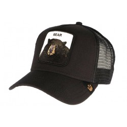 Casquette Goorin Bear Noire tête d'ours