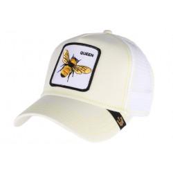 Casquette Goorin Queen Bee blanche et jaune abeille