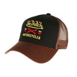 Casquette Von Dutch marron Motorcycles Square CASQUETTES VON DUTCH