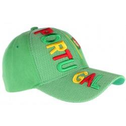 Casquette Portugal verte jaune et rouge drapeau Portugais