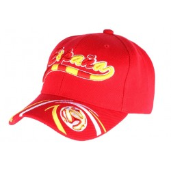 Casquette Portugal Football rouge jaune blanche
