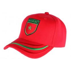 Casquette Maroc drapeau blason rouge et vert CASQUETTES PAYS