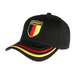 Casquette Allemagne noire blason noir rouge et jaune CASQUETTES PAYS