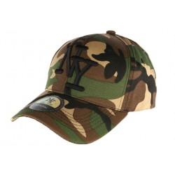 Casquette NY militaire verte et marron Aincys