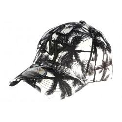 Casquette Baseball noire et blanche Tropical