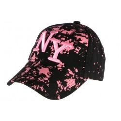 Casquette NY noire et rose streetwear Taggy CASQUETTES Hip Hop Honour