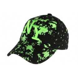 Casquette NY noire et verte fluo streetwear Taggy