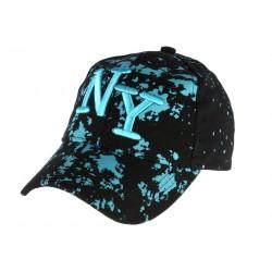 Casquette NY noire et bleue streetwear Taggy