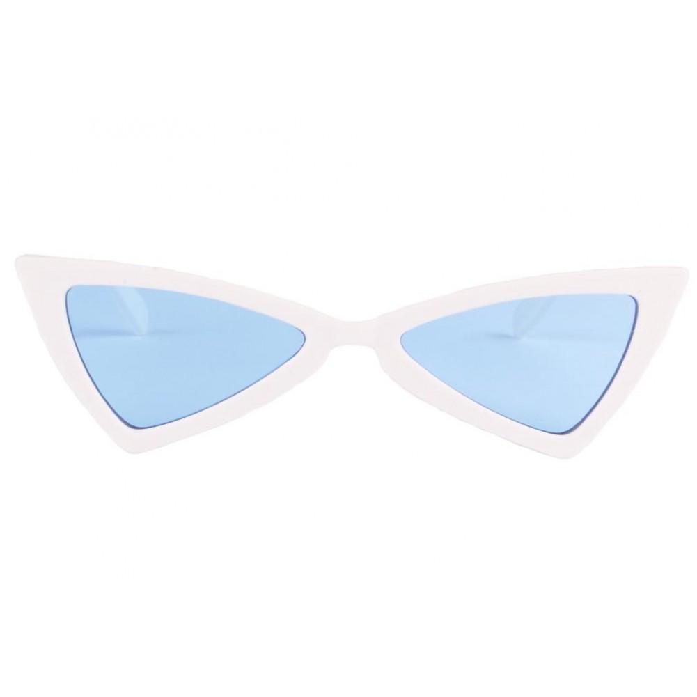 lunette soleil triangle blanche bleu, lunette soleil fashion livré 48h b791f25a594b