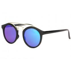 Lunettes soleil miroir bleu rondes tendance Balya LUNETTES SOLEIL Eye Wear