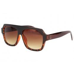 Grosses lunettes soleil marron fashion Kam
