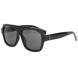 Grosses lunettes soleil noires fashion Kam