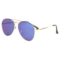 Lunettes soleil aviateur miroir bleu dorée Flying LUNETTES SOLEIL Eye Wear