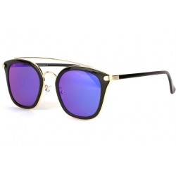 Lunettes soleil miroir bleu et noir fashly LUNETTES SOLEIL Eye Wear