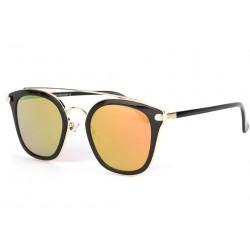 Lunettes soleil miroir doré et noir tendance fashly LUNETTES SOLEIL Eye Wear