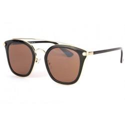 Lunettes soleil marron dore et noir tendance fashly LUNETTES SOLEIL Eye Wear
