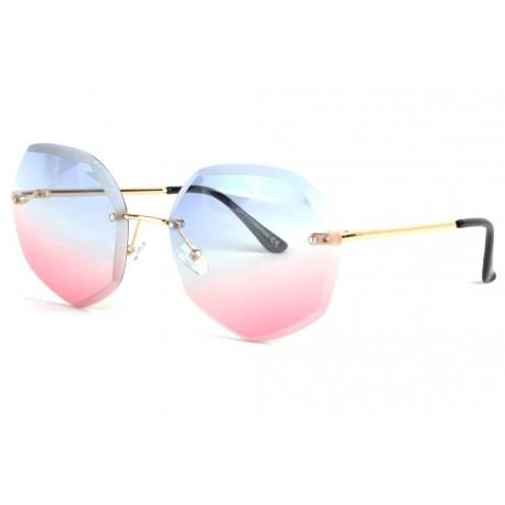 Lunettes soleil femme fashion rose bleu Loly