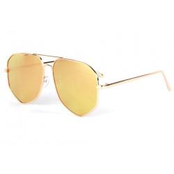 Lunettes de soleil aviateur miroir doré Loisy