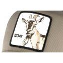 Casquette Goorin Goat verte et grise tête de chevre