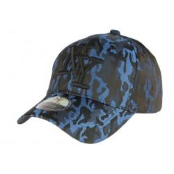 Casquette NY militaire bleue et noire Koft