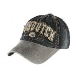 Casquette Von Dutch grise denim jean visiere cuir Vern ANCIENNES COLLECTIONS divers
