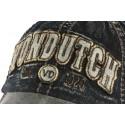 Casquette Von Dutch grise denim jean visiere cuir Vern