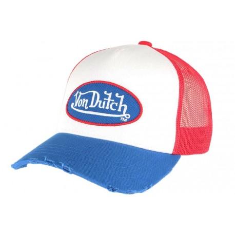 Casquette Von Dutch Bleue et Rouge Truck