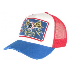 Casquette Von Dutch Bleue et Rouge Eye ball Truck