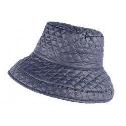 Grand chapeau Pluie bleu Femme Rayny Nyls Création CHAPEAUX Nyls Création