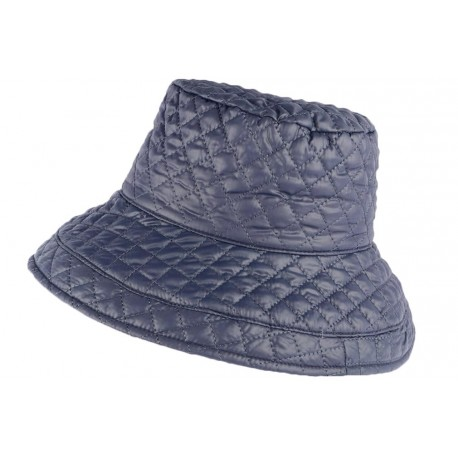 Grand chapeau Pluie bleu Femme Rayny Nyls Création