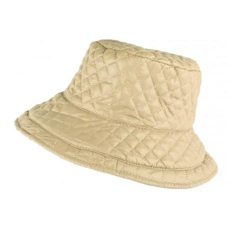 Grand chapeau Pluie Beige Femme Rayny Nyls Création CHAPEAUX Nyls Création
