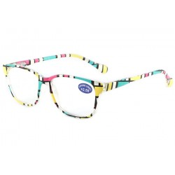 Lunettes Loupes Rose Vert et Jaune Azza Dioptrie +4,00 Lunettes Loupes New Time