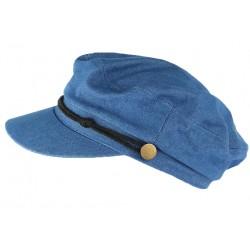 Casquette de marin bleu denim tendance coton Flybust CASQUETTES Léon montane