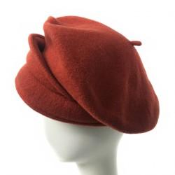 Casquette beret rouille femme Butome creatrice Celine Robert