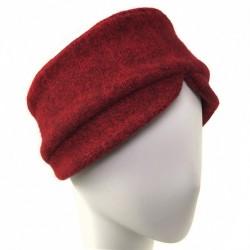 Bandeau femme rouge laine Goji creatrice Celine Robert ANCIENNES COLLECTIONS divers