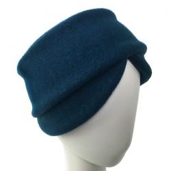 Bandeau femme bleu canard laine Goji creatrice Celine Robert ANCIENNES COLLECTIONS divers