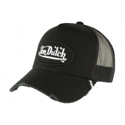 Casquette Von Dutch Noire Truck Filet CASQUETTES VON DUTCH
