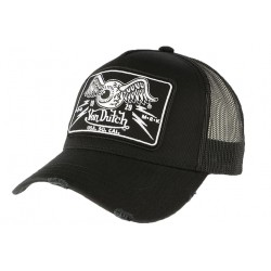 Casquette Von Dutch Noire Flying Eyeball Truck