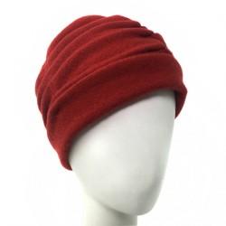 Beret toque rouge brique laine Heya Celine Robert