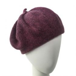 Bonnet beret Femme violet Ipome creation Celine Robert