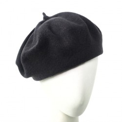 Bonnet beret Femme gris Ipome creation Celine Robert