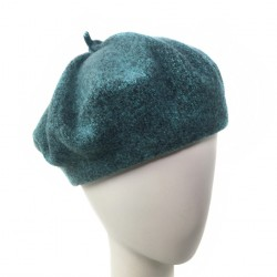 Bonnet beret Femme vert chine Ipome creation Celine Robert