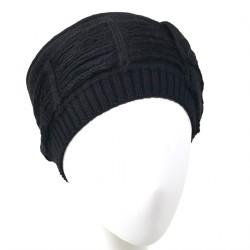 Bonnet toque Noir couture Amos Marque Celine Robert