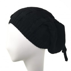 Bonnet long noir couture Asaret Celine Robert