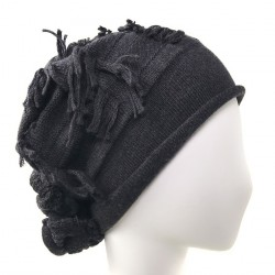 Bonnet long anthracite Callitra Celine Robert